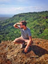 Beautiful places in Uganda: view over the valley from the Sipi Falls