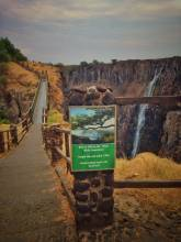 Zimbabwe: canyon of the Victoria Falls waterfall in the dry season