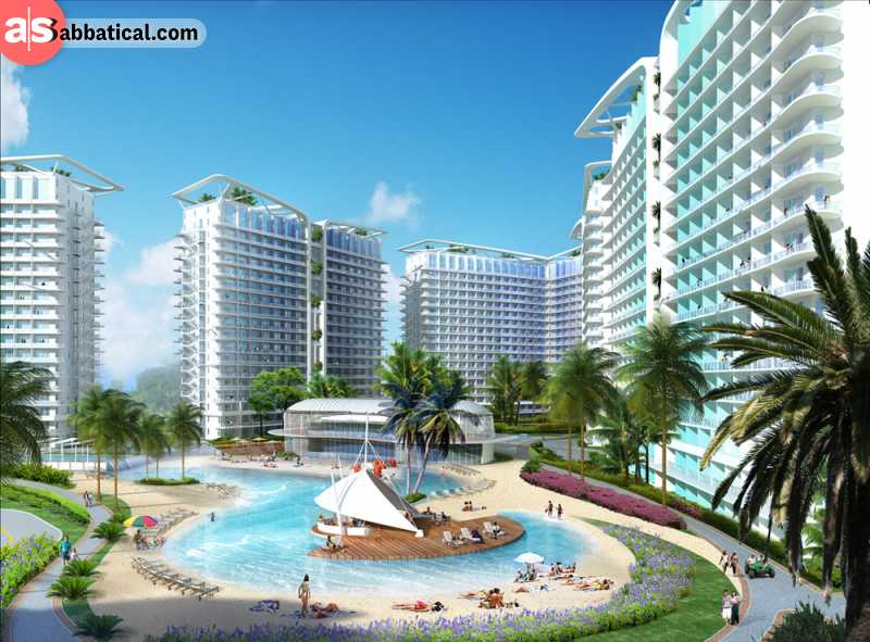 Azure Beach Resort is located in the middle of the capital city, Manila.