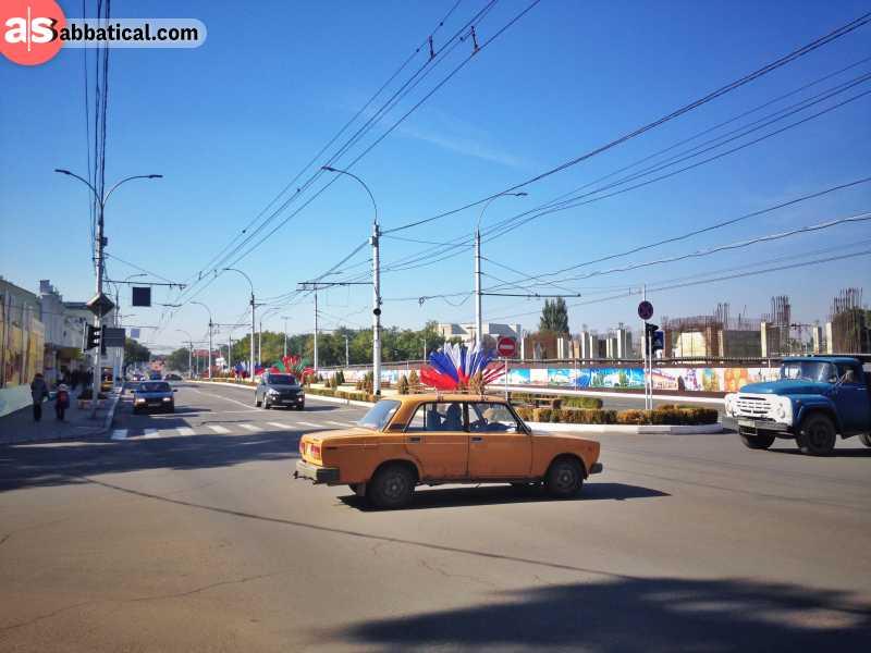 In the streets of Tiraspol, Transnistria