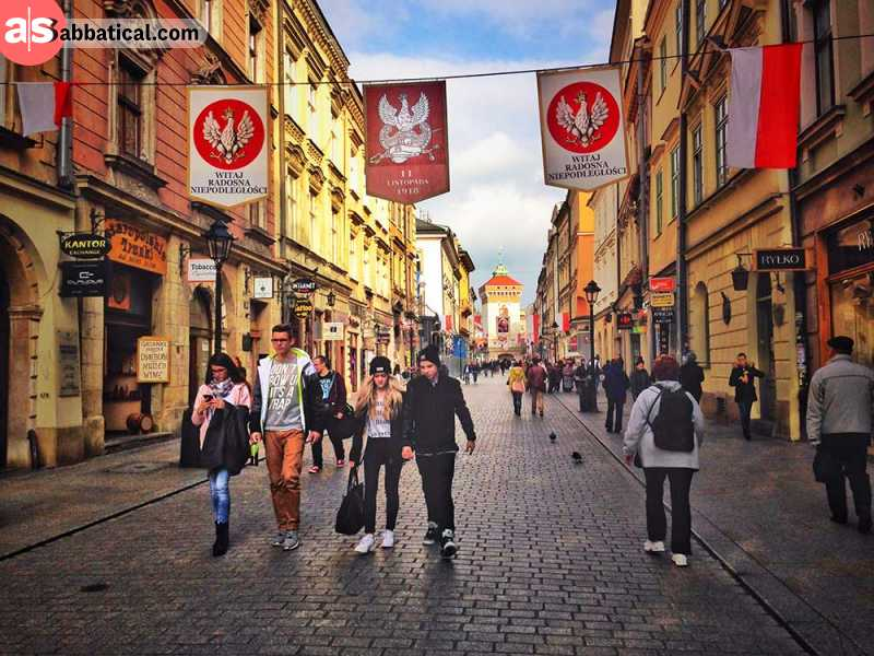 The magnificent Old Town in Krakow is UNESCO protected and attracts people by its outlandish vibe and architecture.