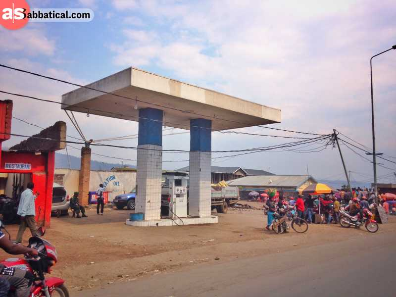 Gas Station in Zimbabwe in the middle of nowhere