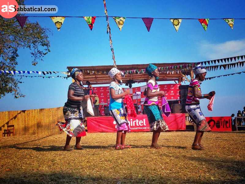 traditional dance at the Lake of Stars festival at the board of Lake Malawi