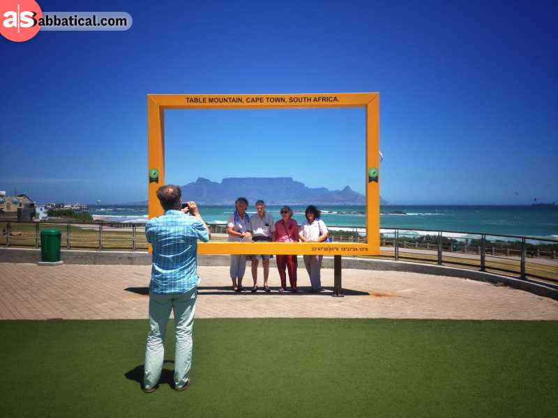 Table Mountain in Cape Town South Africa as viewed from Big Bay