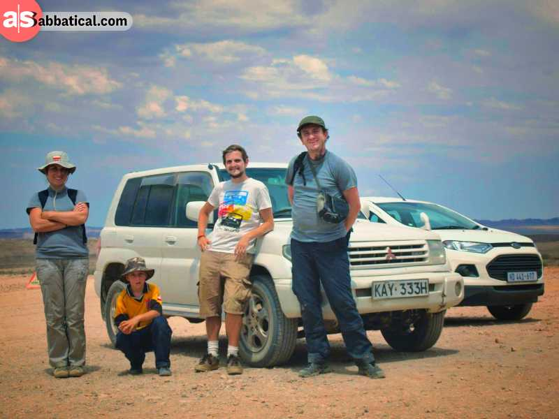 me with my new friends from Poland at the Fish River Canyon