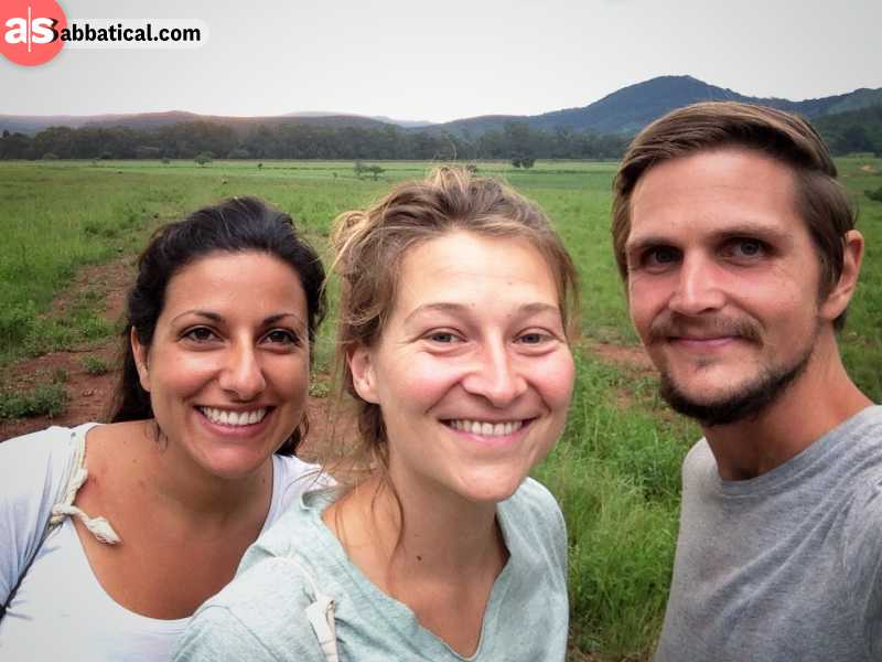 Adrian from a Sabbatical with his new German friends near Maseru the capital of Swaziland