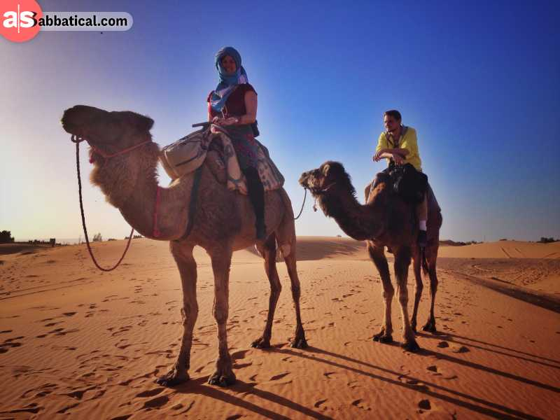 Places to visit in Morocco - Camel riding in Sahara is an unique experience