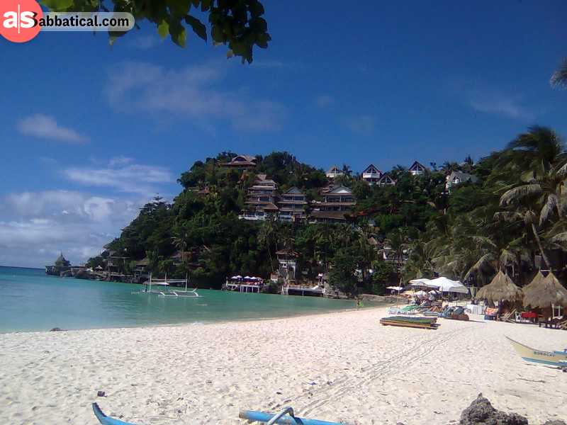 Boracay has won international awards for its beauty, but it's also crowded with tourists.