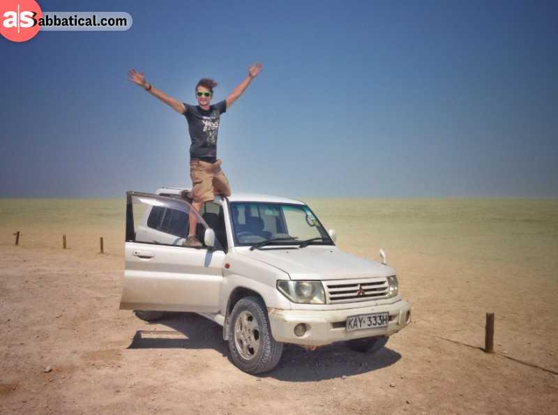 Driving in a desert