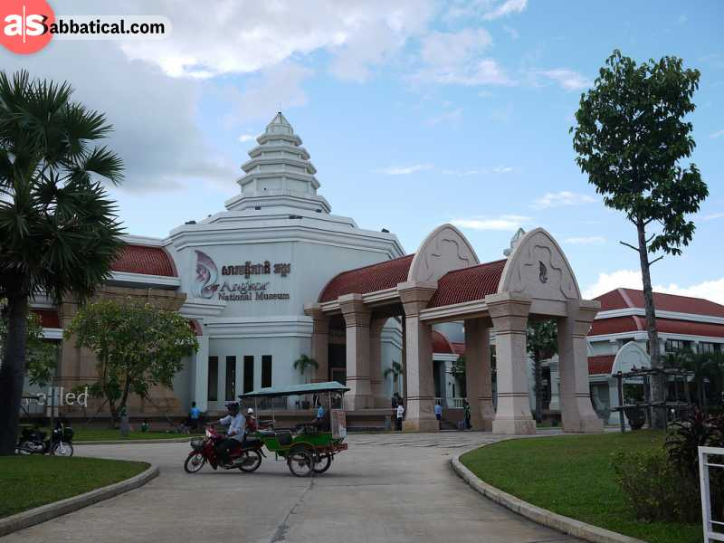 Angkor National Museum houses many historical remnants of the Angkor and Khmer civilization.