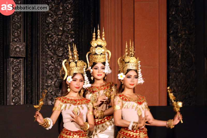 The Apsara Cultural Dance is one of the main cultural heritages of Cambodia.