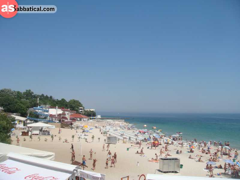 Arcadia Beach or Odessa can get pretty crowded at the peak of the tourist season in the summer months.
