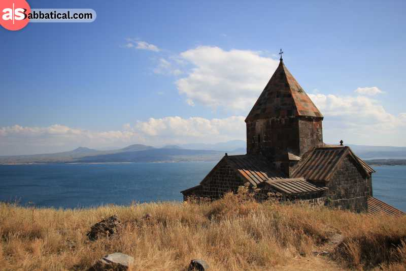 Visit Armenia in the summer to get the best experience of hiking the beautiful countryside and uncovering the numerous monasteries.
