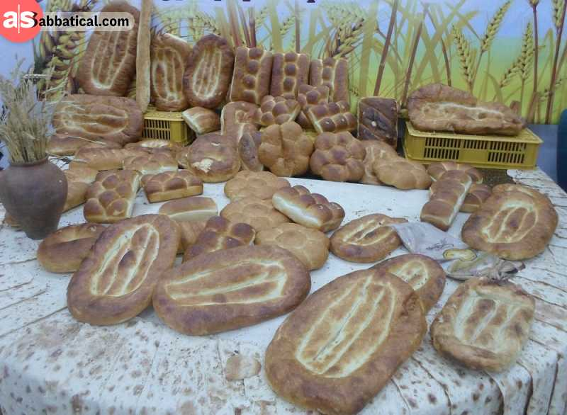 Armenian bread on the showcase on the Bread in the Mountains Festival. Image Courtesy of Gardman Tour.