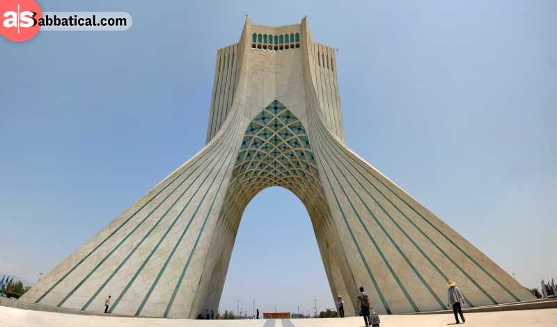 Azadi Tower is one of the main landmarks of Tehran.