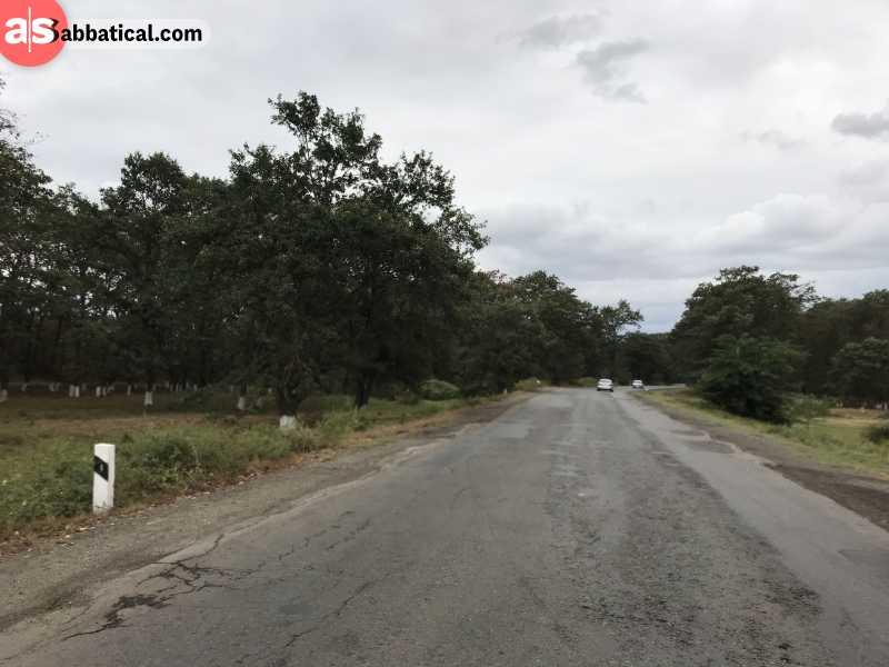 Many roads in Azerbaijan are still under development.
