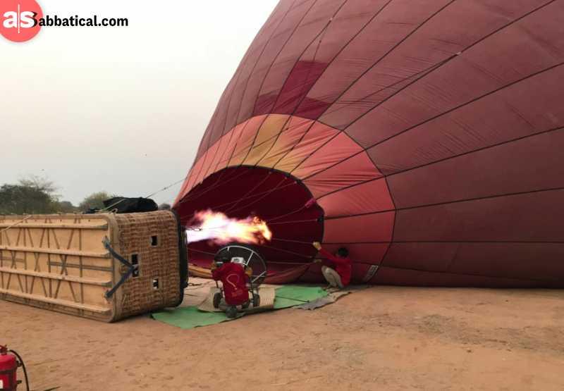 Preparation of baloon