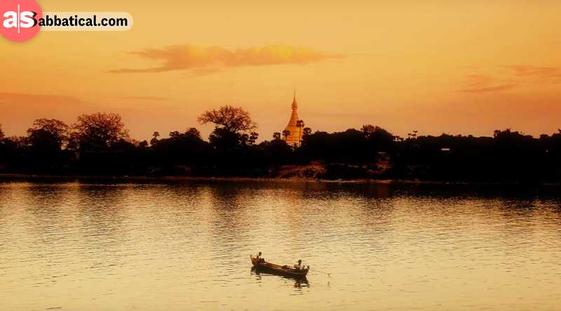 While in Bagan, make sure to experience the Irrawaddy River cruise.