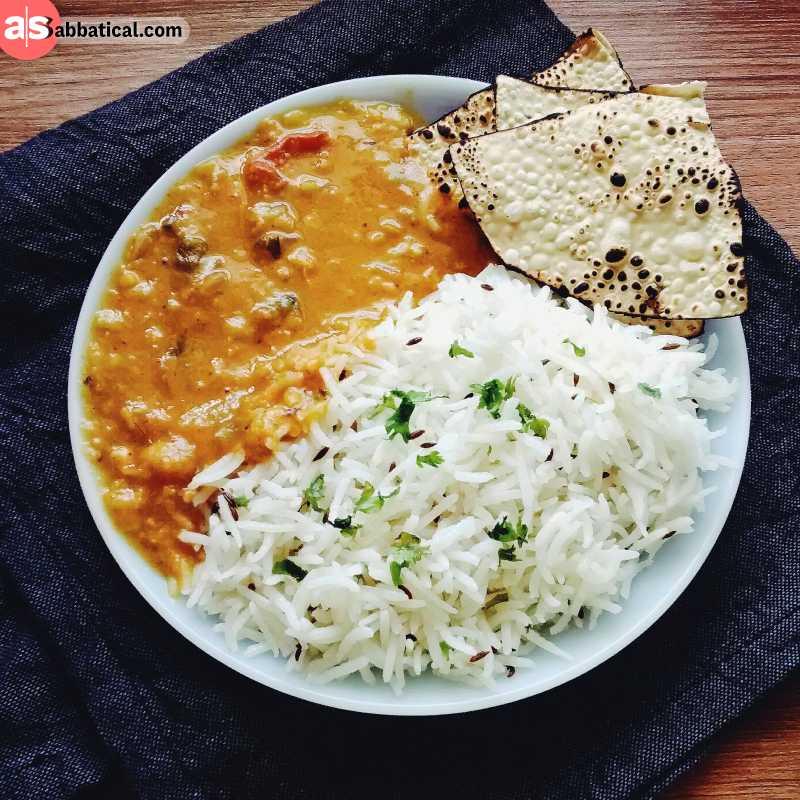 The staple food of Bangladesh.