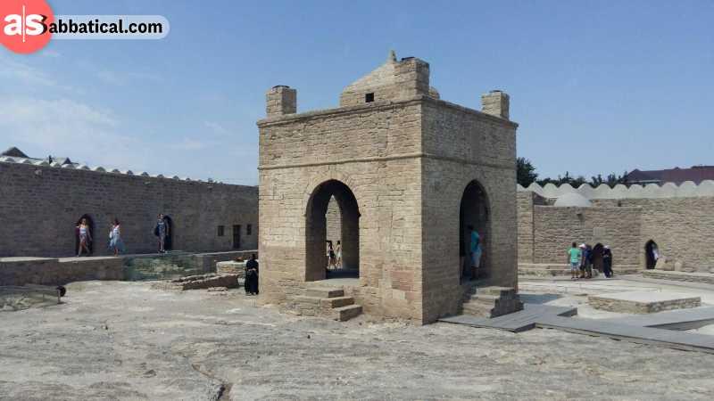 Baku Ateshgah or the Fire Temple of Baku.