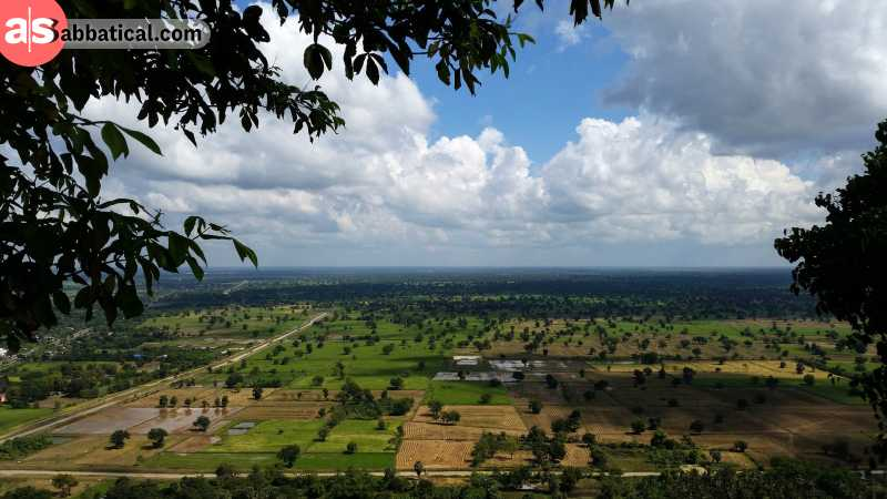 Battambang is popular because of its lush countryside filled with scenic rice fields.