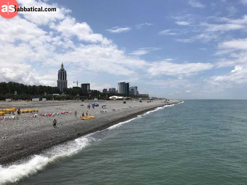 Batumi is a perfect getaway if you want to relax on the beach.