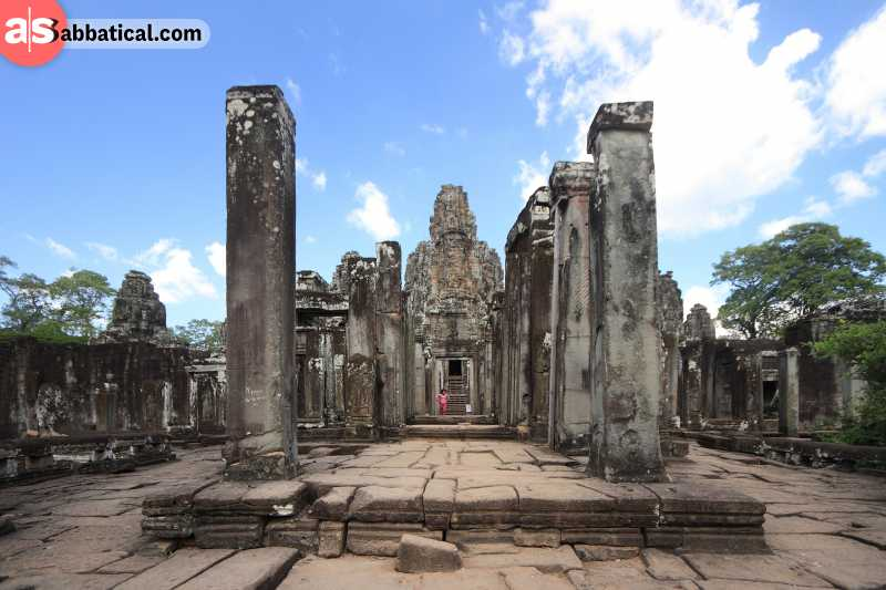 Bayon Temple is similar to Angkor Wat due to their close proximity.