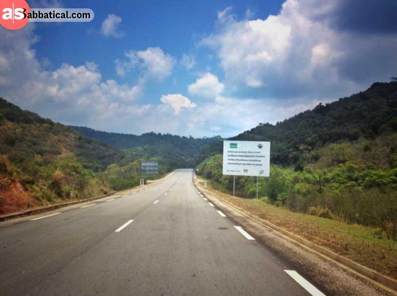 Scenic road around Rwanda