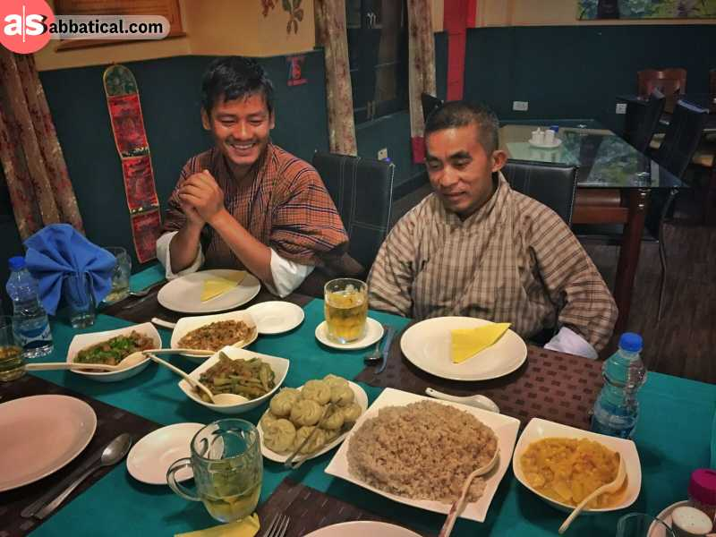 The food of Bhutan is a delicate mix of the cuisine of its neighbors.