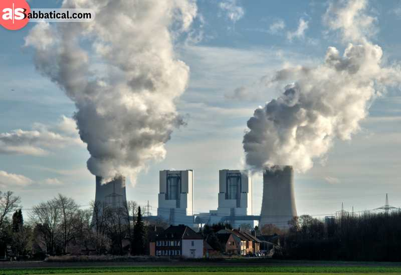 Coal factories produce a lot of carbon dioxide which is one of the biggest environmental issues; yet, coal production is very cheap.