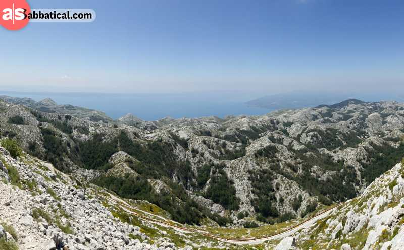 Biokovo Mountains in Croatia offer a great hike and a amgnificent view on the Adriatic coastline.