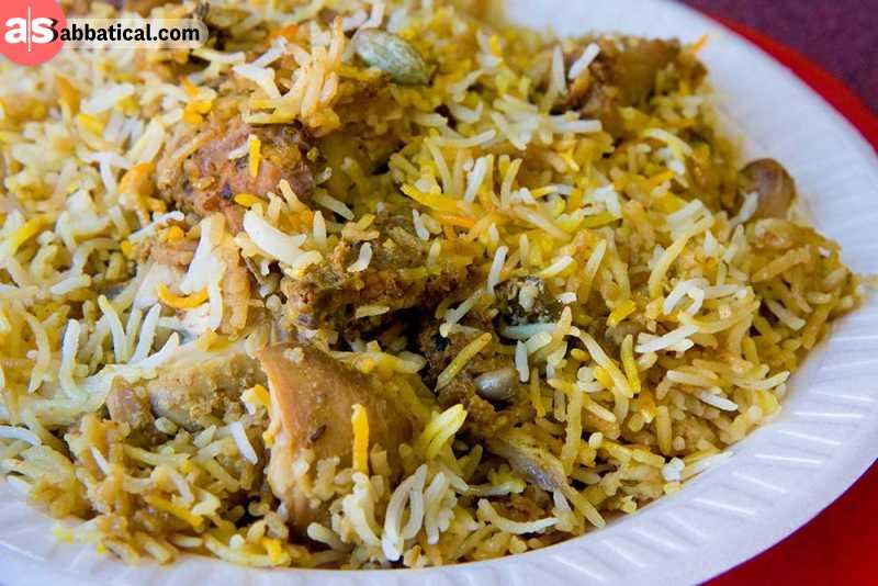 Biryani is popular food in Bangladesh.