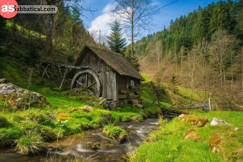 This mill in the Black Forest looks like it was thrown in from a fairytale.