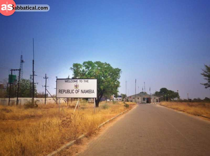 Border crossing to Namibia