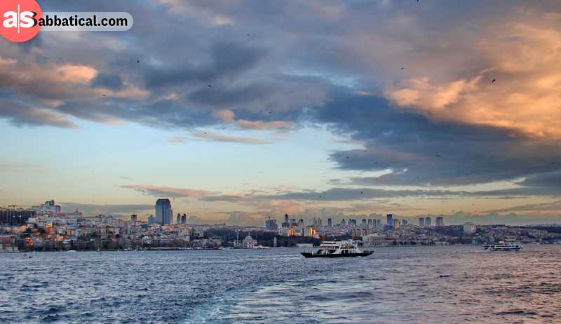 Bosphorus Strait is perfect for a romantic cruise.