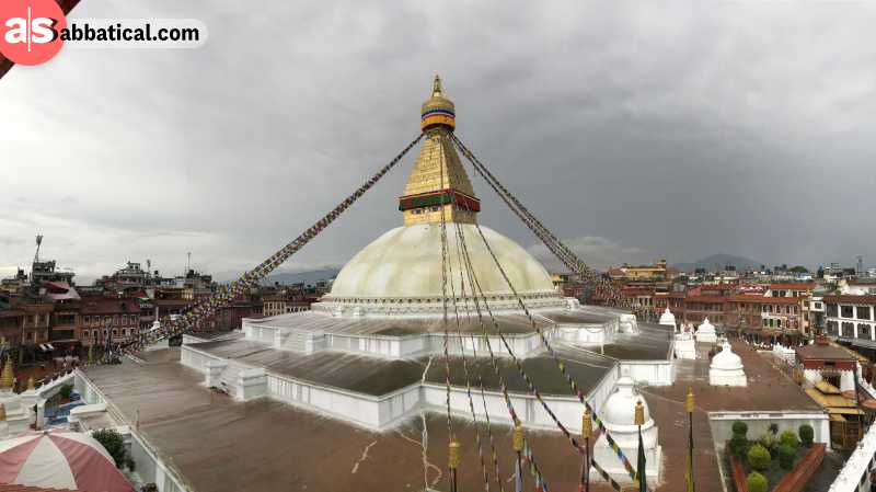 Boudhanath Stupa has a specific importance in the history of Nepal, being the largest stupa.