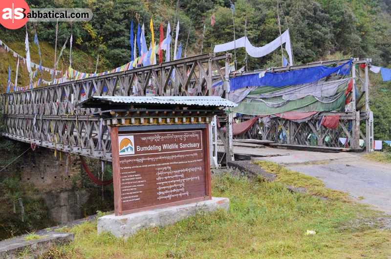 The entrance to one of the most important natural reserves in Bhutan.