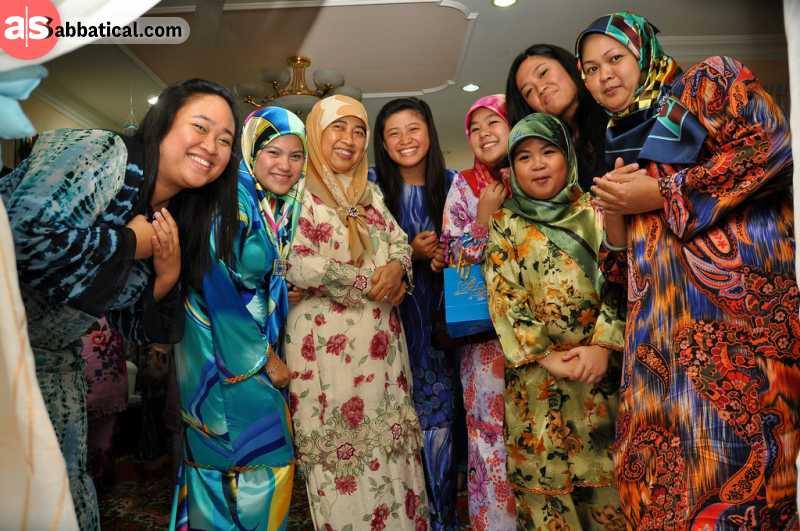 Almost 80% of Brunei people practice Islam.