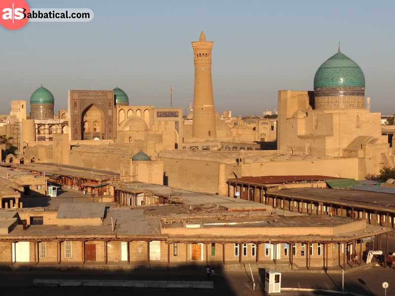 Visit Bukhara if you want to learn about the fascinating history of Central Asia.