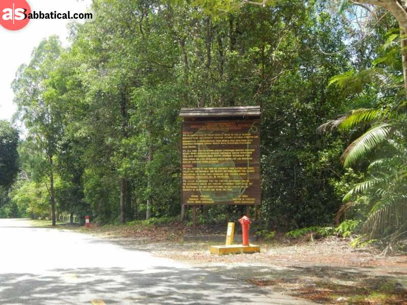The entrance to Bukit Ladan Forest Reserve. Image Courtesy of Add Flag.