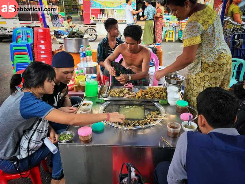 Burmese cuisine is varied and everyone may find something for their taste.