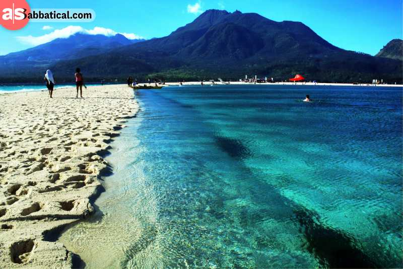 You can relax at Camiguin, as it doesn't attract a lot of tourists.