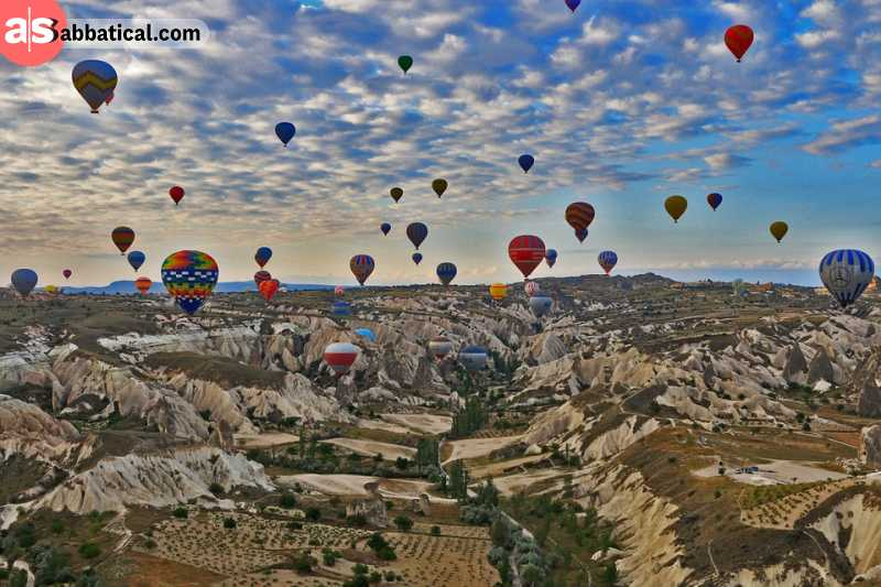 Cappadocia is a famous place known for its hot air balloon rides and epic hikes.