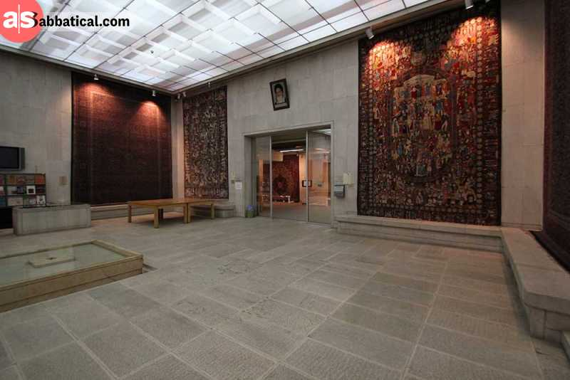 Carpet Museum of Iran is a place where you can admire the magnificent carpet designs on display.
