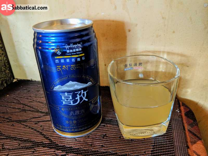 Chang is a popular alcoholic beverage in Tibet.