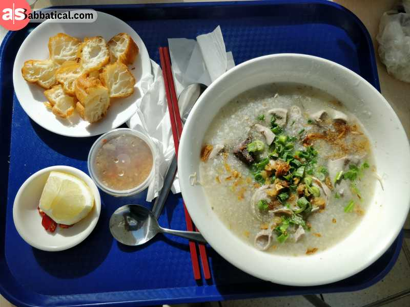 Vietnamese people love to make various food with rice; this is Chao soup.