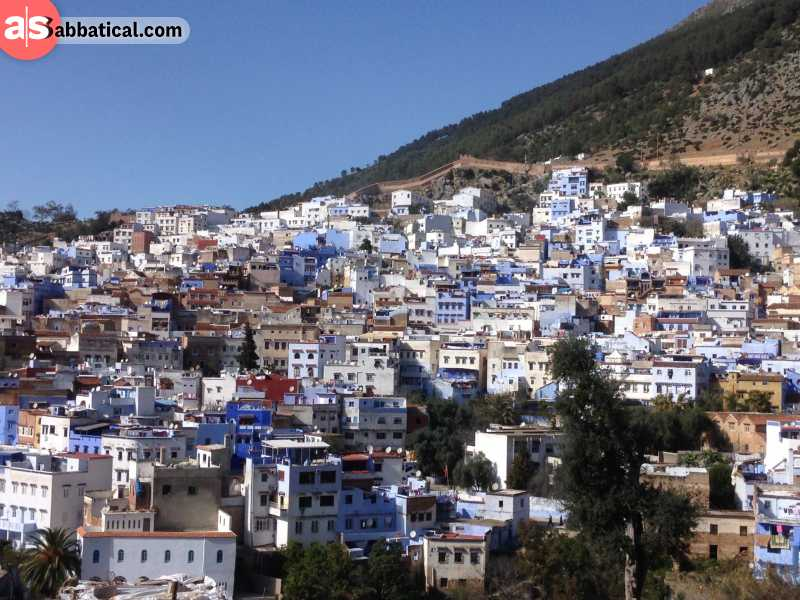Chefchaouen from the hill