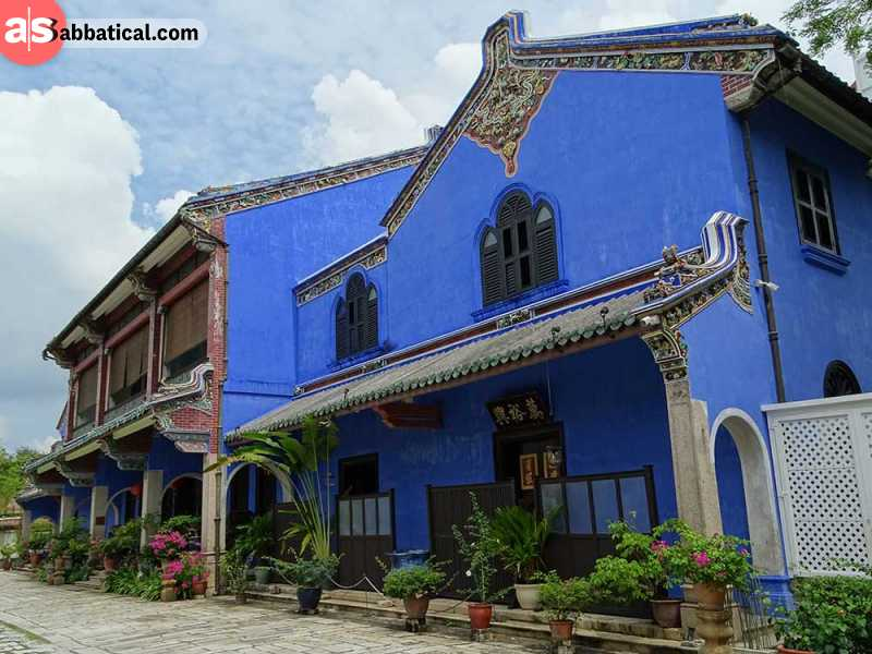Cheong Fatt Tze Mansion or the Blue Mansion is an unique blend of Western and Eastern architecture.