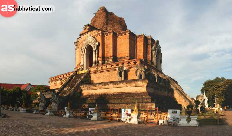 Wat Chedi Luang is just one of the many old Chiang Mai temples.