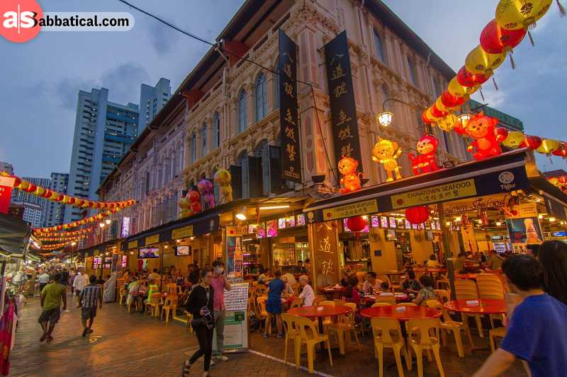 Didn't you expect that the Chinatown in Singapore would be busy?
